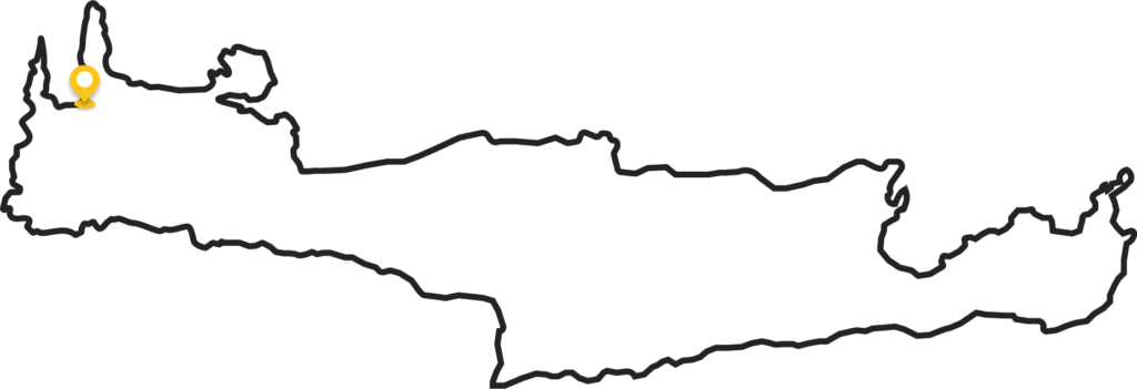 Camping location Crete outlined